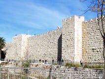 Forntida vägg 2012 för Jerusalem Jaffa port Royaltyfri Bild