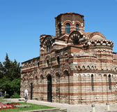 forntida vägg för pantocrator för bulgaria christ kristenkyrka Arkivbild