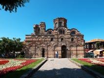 forntida vägg för pantocrator för bulgaria christ kristenkyrka royaltyfria foton