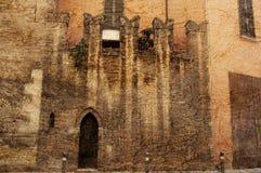 Forntida vägg i Modena Italien Arkivfoton