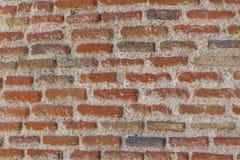 Forntida vägg och solljus Cement och tunna tegelstenar Royaltyfria Foton