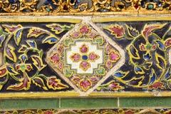 forntida väggar för keramiska tegelplattor Arkivfoto