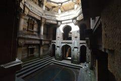 Forntida väl i Ahmedabad, Indien royaltyfria foton