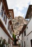 Forntida vagga gravvalv i den turkiska staden av Amasya, Turkiet, Asien Royaltyfria Bilder