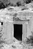 Forntida vagga gravvalvet Arkivbilder
