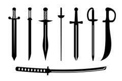 Forntida vapendesign för svärd Arkivbilder