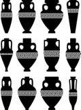 forntida vases för amphorae vektor illustrationer