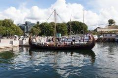 Forntida Viking för skepp era Oslo norway Arkivbild