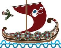 Forntida vikings ship Royaltyfri Fotografi