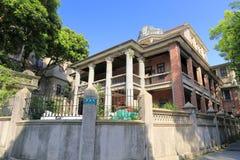 Forntida villa i gulangyu arkivfoton