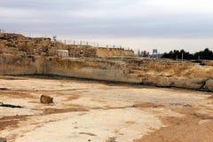 Forntida villebråd av korsfarare nära Jerusalem arkivbild