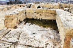 Forntida villebråd av korsfarare nära Jerusalem fotografering för bildbyråer