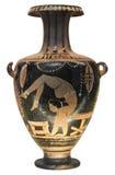 forntida visande grekisk gymnastvase royaltyfri fotografi