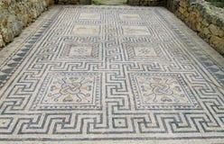 Forntida Volubilis stadmosaik på golvet Arkivfoton