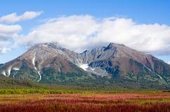 Forntida vulkan Arkivfoton