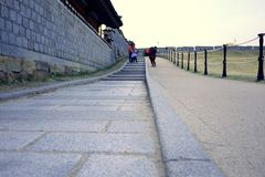 forntida walkway Arkivfoton