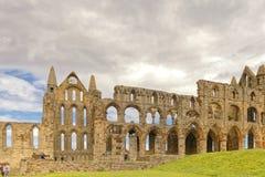 Forntida whitby abbotskloster, yorkshire, UK Royaltyfri Bild