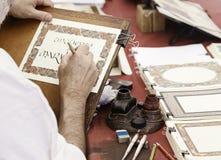 Forntida writing Arkivbilder