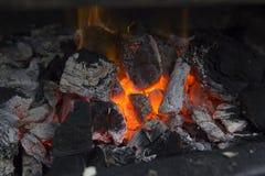 Fornuis op houtskool Stock Foto