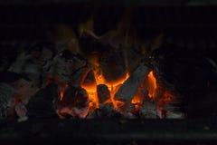 Fornuis op houtskool Stock Afbeelding