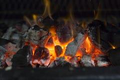 Fornuis op houtskool Stock Foto's