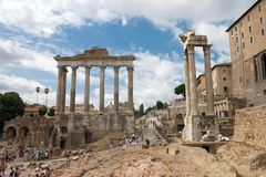 Foro antiguo de Roma Imagen de archivo
