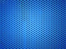 Foro blu del metallo o fondo perforato di griglia Immagine Stock Libera da Diritti