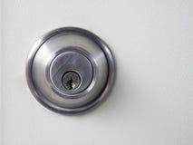 Foro chiave di stile del metallo Fotografie Stock Libere da Diritti