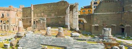 Foro de Augustus en Roma, Italia Fotos de archivo