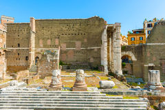Foro de Augustus en Roma, Italia Fotografía de archivo
