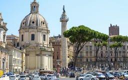 Foro de Trajan y la columna de Trajan Imagen de archivo