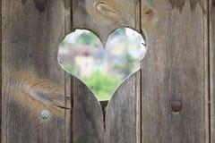 Foro del cuore Fotografia Stock