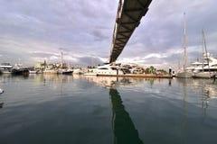 Foro del puerto de Barcelona Fotografía de archivo libre de regalías