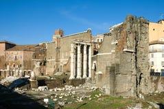 Foro di Augusto. Ruins of the Foro di Augusto, Rome, Italy Stock Image
