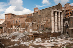 Foro di Augusto ruins at Roma - Italy Stock Photos
