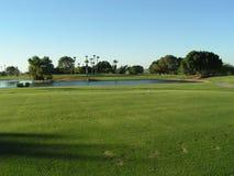 Foro di golf con acqua Fotografia Stock Libera da Diritti