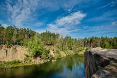 Foro di nuoto della cava, paesaggio stupefacente Fotografia Stock Libera da Diritti