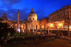 Foro Di Traiano, Rome Royalty-vrije Stock Afbeeldingen