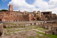 Foro di Trajano em Roma - Italy Fotografia de Stock