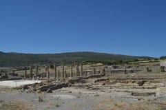 Foro en Roman City Baelo Claudia Dating en del siglo II la playa A.C. de Bolonia en Tarifa Naturaleza, arquitectura, historia, fotografía de archivo