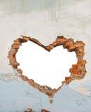 Foro a forma di del cuore immagini stock libere da diritti