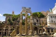 Foro imperial en Roma imagenes de archivo