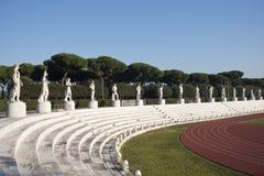 Foro Italico. Marble statues in the Stadio dei Marmi, Rome Italy Royalty Free Stock Photography