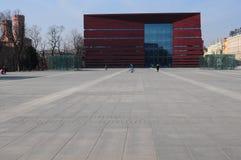 Foro nacional del foro Muzyki en el cuadrado de la libertad, Wroclaw, Polonia, Europa de MusicNarodowe Imágenes de archivo libres de regalías