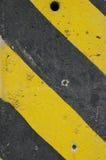 Foro nero di giallo due del cemento Fotografia Stock Libera da Diritti