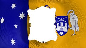 Foro quadrato nella bandiera di Canberra illustrazione vettoriale