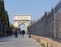 Foro romano de la entrada Foto de archivo libre de regalías