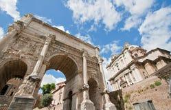 Foro romano de la ruina Foto de archivo