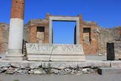 Foro romano de Pompeya Foto de archivo libre de regalías