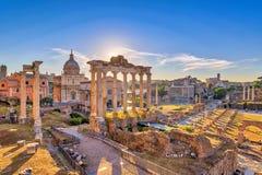 Foro romano del Th Foto de archivo
